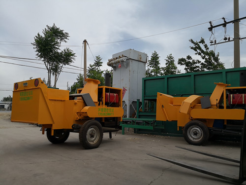 2019.5.27厂家发货江苏江阴市800新型园林绿化树枝粉碎机